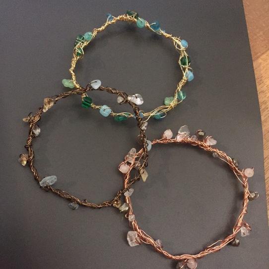 Whimsical bangle bracelets