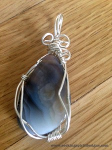 Agate Pendant I made after taking a class in February