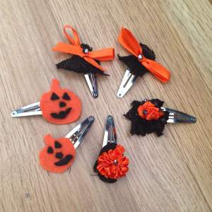 Halloween barrettes
