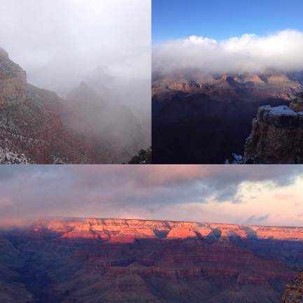 Changing weather at the Grand Canyon on Christmas