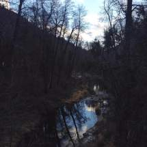 Sky reflected in creek, Sedona