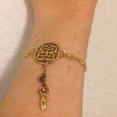 Celtic goddess bracelet