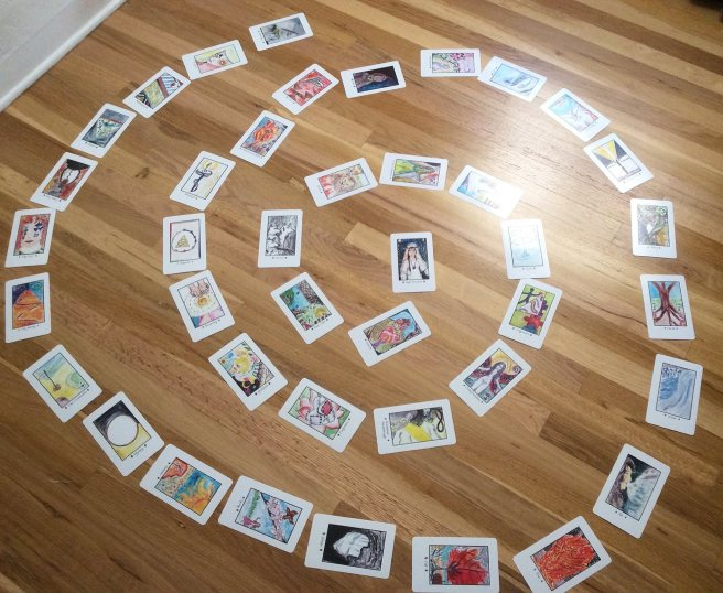 Spiral of oracle cards