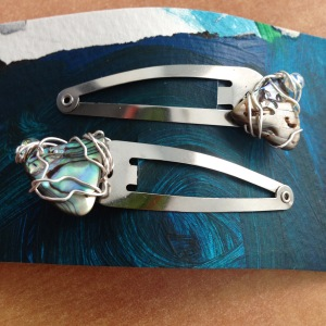 abalone hair clips
